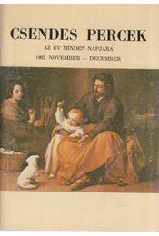 Csendes percek 1983. november-december - Dienes László (szerk.) - Régikönyvek