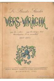 Vers virágok (dedikált) - Dr. Binder Sándor - Régikönyvek