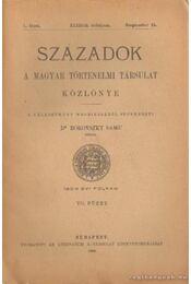 Századok 1909. évi folyam VII. füzet - Dr. Borovszky Samu (szerk.) - Régikönyvek