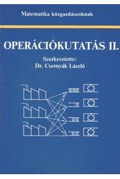 Operációkutatás II. - Dr. Csernyák László - Régikönyvek