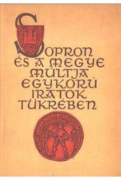 Sopron és a megye múltja egykorú iratok tükrében - Dr. Horváth Zoltán - Régikönyvek