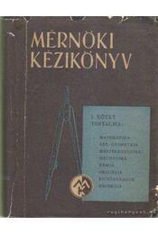 Mérnöki kézikönyv 1. - Dr. Palotás László - Régikönyvek