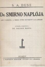 Dr. Smirno naplója - Duse, S. A. - Régikönyvek