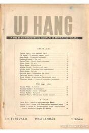 Uj hang 1954. III. évfolyam (teljes) - Erdei Sándor - Régikönyvek