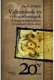 Változások és változatlanságok - Fleck Zotlán - Régikönyvek