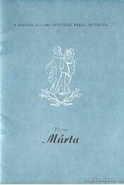 Márta - Flotow - Régikönyvek