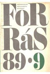 Forrás 1989/9. - Régikönyvek
