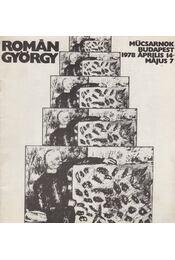 Román György - Műcsarnok Budapest 1978 április 14 - május 7 - Frank János - Régikönyvek