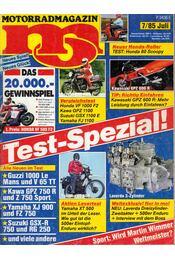 Motorrad-Magazin 1985/7 Juli - Franz Josef Schermer - Régikönyvek