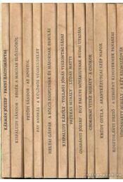 Tevan nyomda és kiadó 1913-1943. - Krúdy Gyula, Kosztolányi Dezső, Heltai Gáspár, Fazekas Mihály, Kisfaludy Károly, Petőfi Sándor, Csokonai Vitéz Mihály, Vörösmarty Mihály, Kisfaludy Sándor, Kármán József, Gvadányi József, Fáy András - Régikönyvek