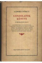 Gondolatok könyve - Gábor György - Régikönyvek