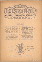 Koszorú 1943. január IX. kötet 2.szám - Gáspár Jenő - Régikönyvek