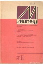 Műhely 1984. VII. évfolyam, 3. szám - Gecsényi Lajos - Régikönyvek
