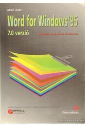 Word for Windows '95 7.0 verzió - Gerő Judit - Régikönyvek