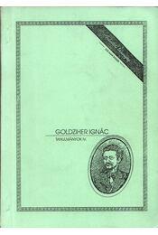 Tanulmányok IV. - Goldziher Ignác - Régikönyvek