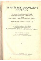 Természettudományi közlöny 1940 (72. kötet) (teljes) - Gombocz Endre, Szabó-Patay József - Régikönyvek