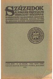 Századok 1932. nov.-dec. 9-10. szám - Hajnal István, Domanovszky Sándor, Mályusz Elemér - Régikönyvek