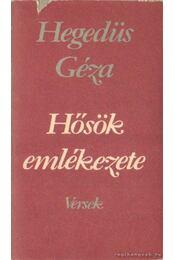 Hősök emlékezete - Hegedüs Géza - Régikönyvek