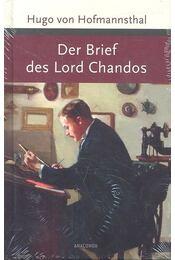 Der Brief des Lord Chandos - Hofmannsthal, Hugo von - Régikönyvek