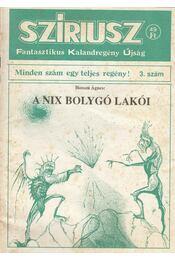 Szíriusz 3. szám - Hosszú Ágnes - Régikönyvek