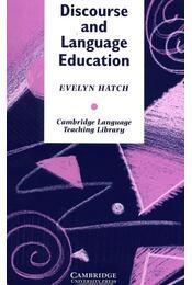 Discourse and Language Education - HATCH, EVELYN - Régikönyvek