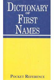 Dictionary of First Names - Macleod, Isebail, Freedman, Terry - Régikönyvek