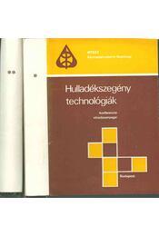 Hulladékszegény technológiák I-II. - Régikönyvek