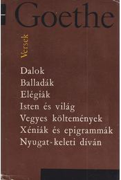 Versek - Johann Wolfgang Goethe - Régikönyvek