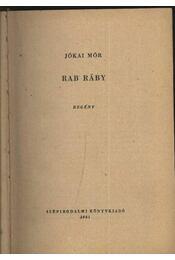 Rab Ráby - Jókai Mór - Régikönyvek