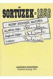 Sortüzek 1956 - Kahler Frigyes, Pálmány Béla, Sándorfi György, Alföldi Vilma, Borosy András, Kapronczay Károly, M.Kiss Sándor - Régikönyvek
