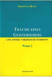 Träume eines Geistersehers - Kant, Immanuel - Régikönyvek