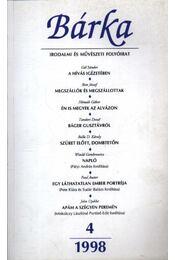 Bárka 1998/4 - Kántor Zsolt - Régikönyvek