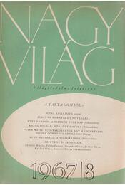 Nagyvilág 1967/8. - Kardos Tibor - Régikönyvek