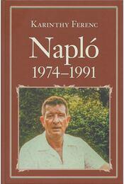 Napló 1974-1991 - Karinthy Ferenc - Régikönyvek