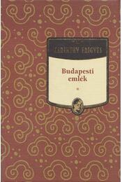 Budapesti emlék - Karinthy Frigyes - Régikönyvek