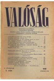 Valóság 1948. február 2. szám - Karácsony Sándor - Régikönyvek