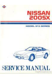 Nissan 200SX Model S13 Series - Régikönyvek