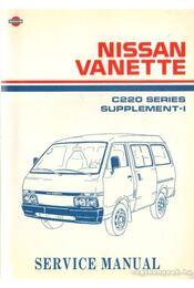 Nissan Vanette C220 Series Supplement-I - Régikönyvek