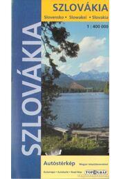 Szlovákia autóstérkép (1: 400 000) - Régikönyvek