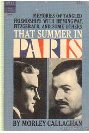 That summer in Paris - Callaghan, Morley - Régikönyvek
