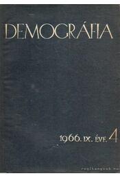 Demográfia 1966. 9. évf. 4. szám - Több szerkesztő - Régikönyvek