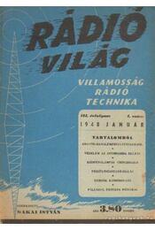 Rádió világ 1948. január - Makai István - Régikönyvek