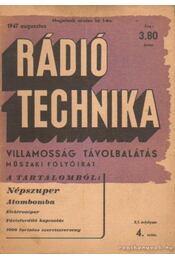 Rádiótechnika 1947. augusztus 4. szám - Régikönyvek