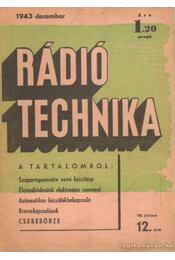 Rádiótechnika 1943. december 12. szám - Molnár János, Jovitza György - Régikönyvek