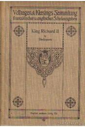 The tragedy of King Richard II. - William Shakespeare - Régikönyvek