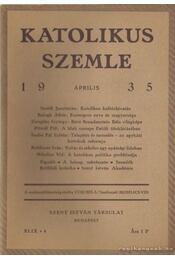 Katolikus szemle 1935. (töredék) - Mihelics Vid - Régikönyvek