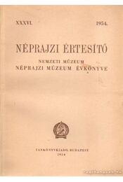 Néprajzi értesítő 1954. - Balassa Iván - Régikönyvek