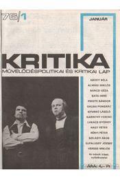Kritika 1976-77. (hiányos) - Pándi Pál - Régikönyvek