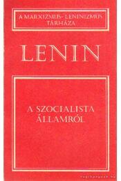 A szocialista államról - Lenin - Régikönyvek