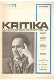 Kritika 73/11 - Pándi Pál - Régikönyvek